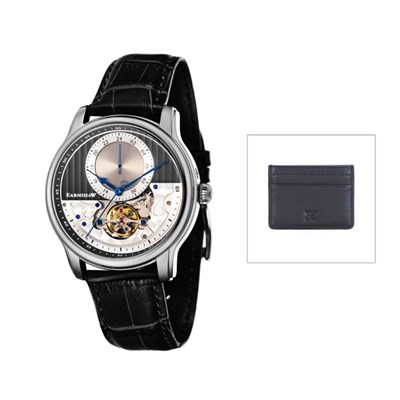 Thomas Earnshaw Gent's Longitude Regulator Automatic with Genuine Leather Strap & Card Holder