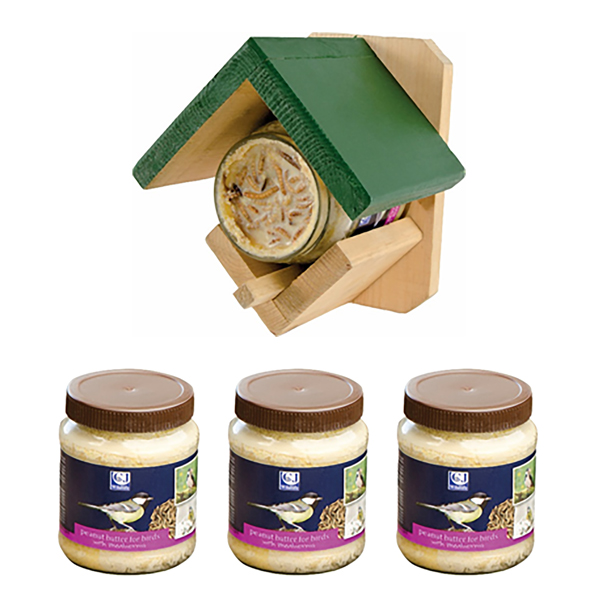 Image of 4 x Peanut Butter for Birds with Feeder