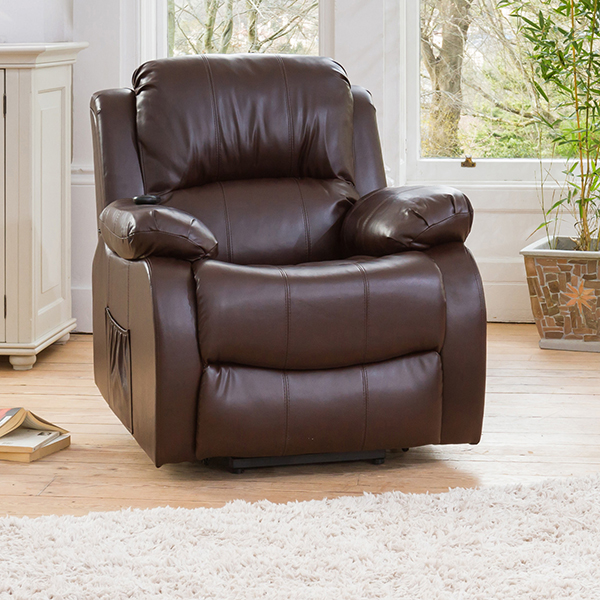 Oakham Rise and Recliner with Heat and Massage Functions Brown