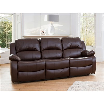 Oakham Three Seater Bonded Leather Sofa