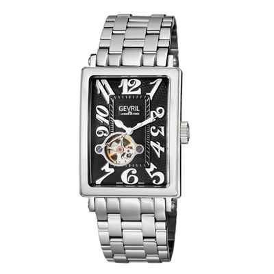 Gevril Gent's Avenue of Americas Ltd Edt Swiss Automatic Watch Ruben & Sons Movement with Stainless Steel Bracelet & Pen