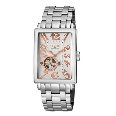 Gevril Gent's Avenue of Americas Ltd Edt Swiss Automatic Watch Ruben & Sons Movement with Stainless Steel Bracelet