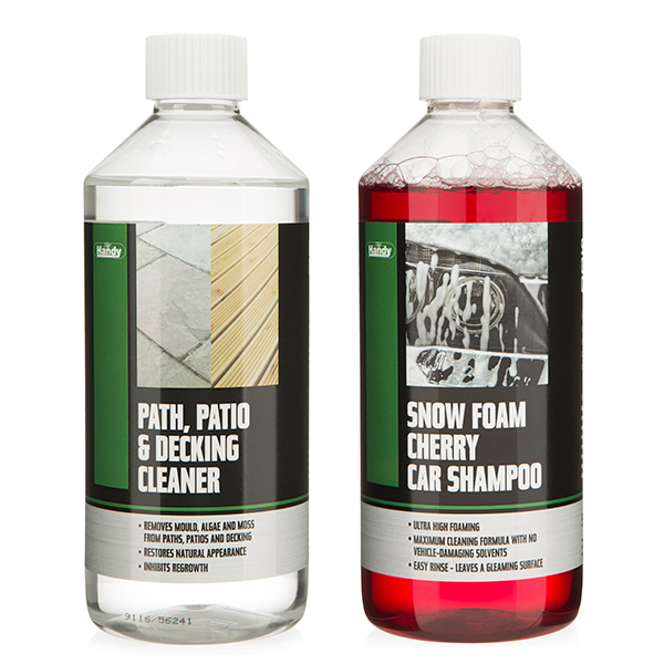 The Handy Detergent Duo with Car Shampoo & Path, Patio & Decking Cleaner No Colour