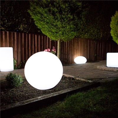 Sphere Colour Changing Solar Light with USB Charging Port