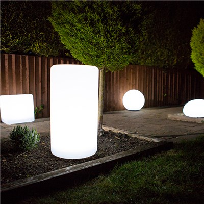 Cylinder Colour Changing Solar Light with USB Charging Port