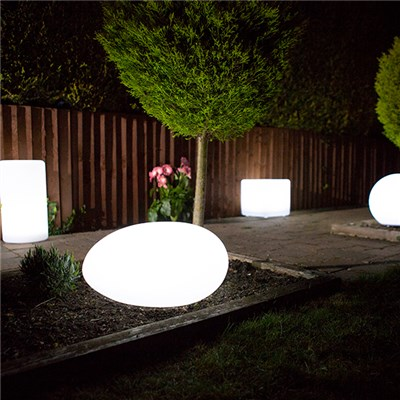 Pebble Colour Changing Solar Light with USB Charging Port