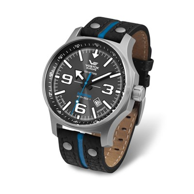 Vostok Europe Gent's Automatic Expedition N1 Watch with Genuine Leather Strap