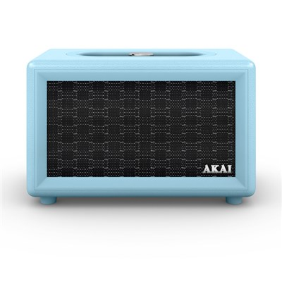 Akai Blue Retro Bluetooth Speaker with Built-in Rechargeable Battery