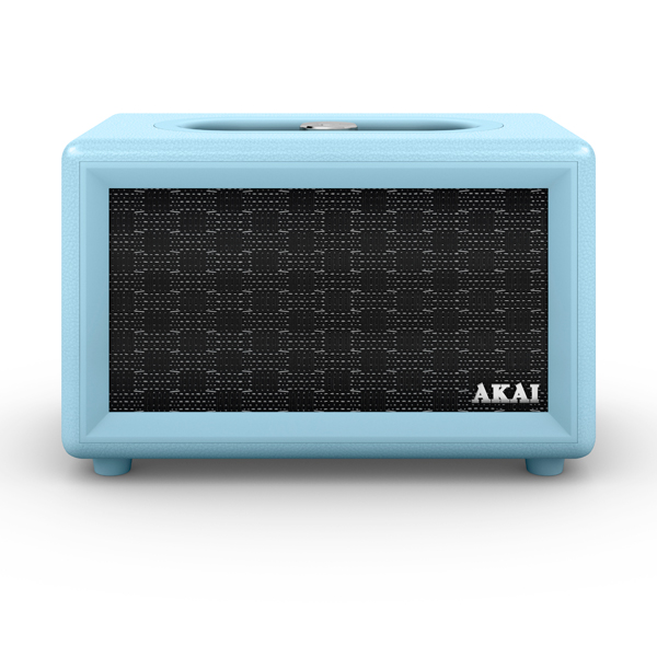 Image of Akai Blue Retro Bluetooth Speaker with Built-in Rechargeable Battery