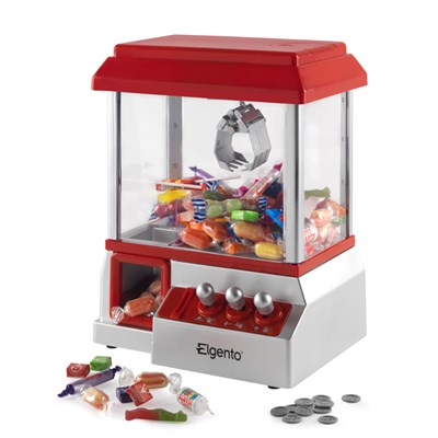 Elgento Red Carnival Candy Catcher Money Box (Plastic Coins Included)