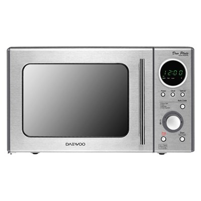 Daewoo Stainless Steel Duo-Plate Microwave 20L 800W with 5 Power Levels