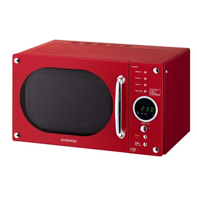 Daewoo Red Retro Design Microwave 800W 23L
