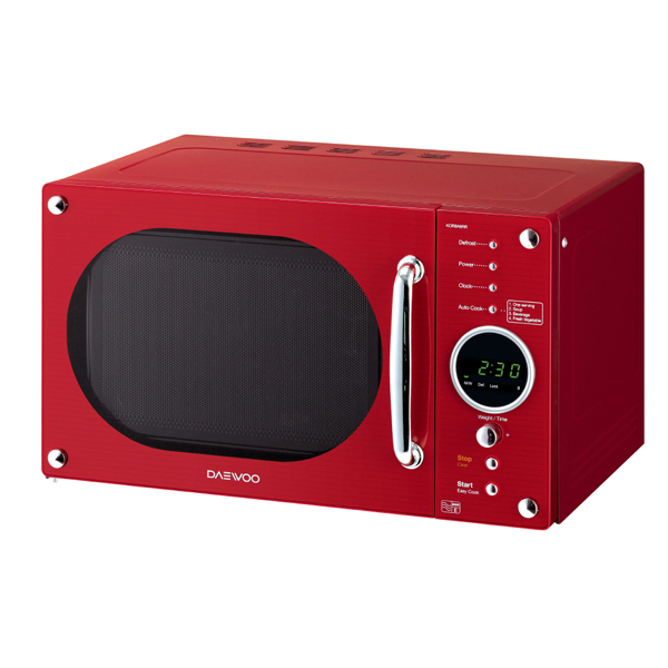 Daewoo Red Retro Design Microwave 800W 23L No Colour