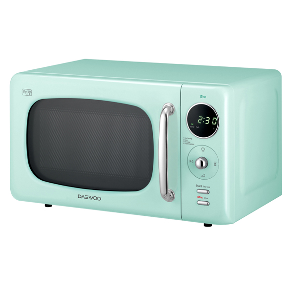 Daewoo Green Touch Control Microwave with Zero Standby ECO Function 800W 20L No Colour