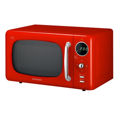 Daewoo Red Touch Control Microwave with Zero Standby ECO Function 800W 20L