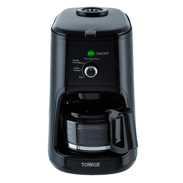 Tower Coffee Maker, Coarse and Fine Grinding Options No Colour