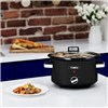 Tower Stainless Steel 3.5L Slow Cooker with Tempered Glass Lid and Removable Ceramic Bowl - Black