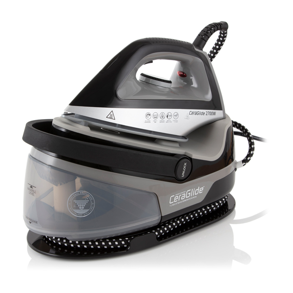 Image of Tower Black Steam Generator Iron with Ceramic Soleplate 1.5L 2700W