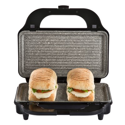 Tower Silver 3-in-1 Grill 900W with Sandwich and Waffle Maker with Non-Stick Removable Plates