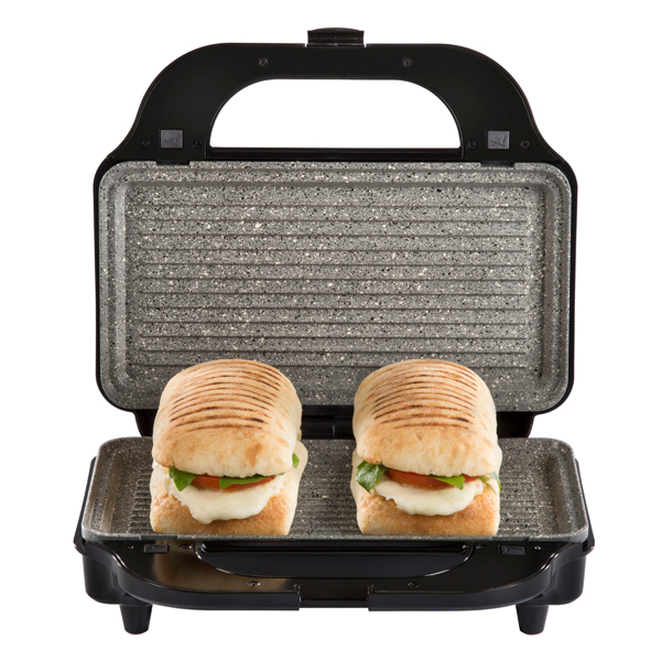 Tower Silver 3-in-1 Grill 900W with Sandwich and Waffle Maker with Non-Stick Removable Plates No Colour