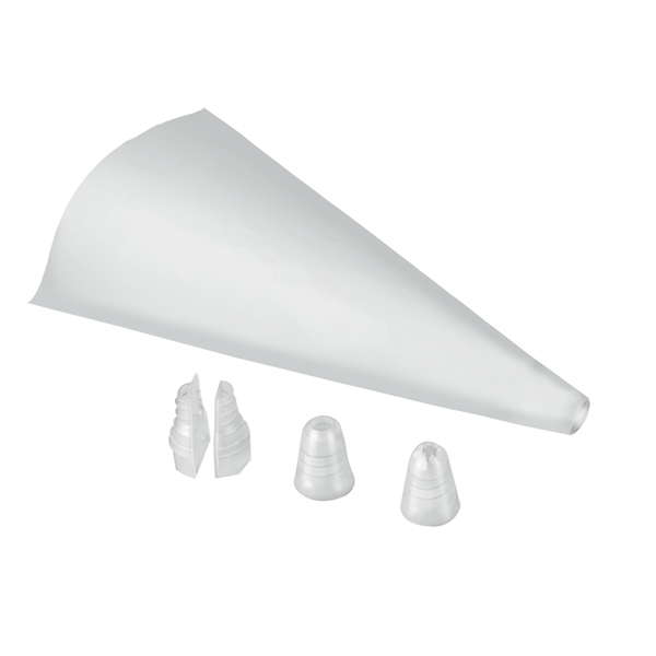 Dual Piping Bags (20 Pack) with 2 Nozzles No Colour