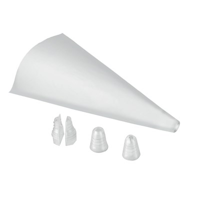 Dual Piping Bags (20 Pack) with 2 Nozzles