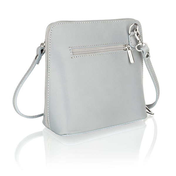 Woodland Leather Small Shoulder Bag with Adjustable Shoulder Strap Grey