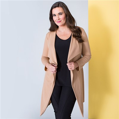 Nicole Crepe Waterfall Jacket
