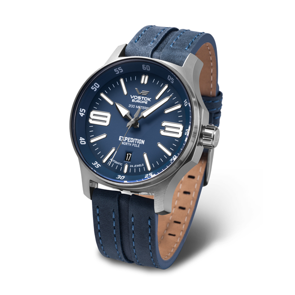 Image of Vostok Europe Gents Expedition N1 Automatic Watch with Genuine Leather Strap