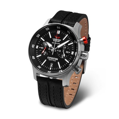 Vostok Europe Gents Expedition N1 Chronograph Watch with Genuine Leather Strap