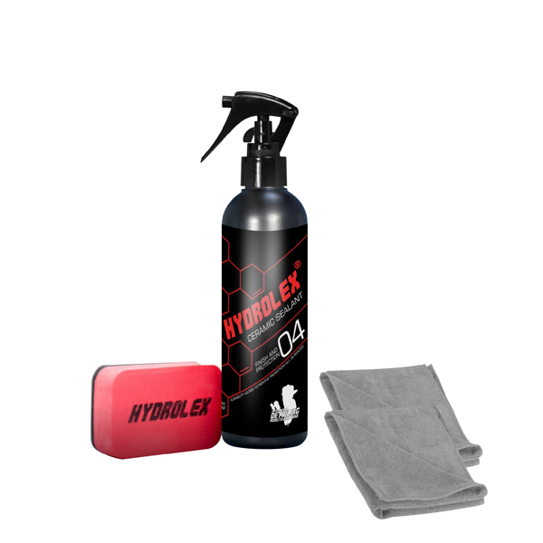Hydrolex Ceramic Sealant Paint Protection 250ml with Applicator and 2 x Microfibre Cloths No Colour