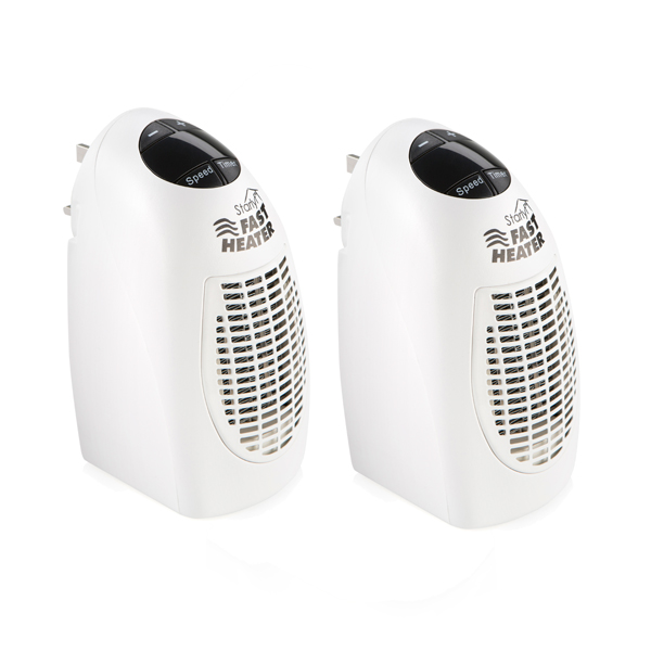 Starlyf Plug In Fast Heater (Twin Pack) White