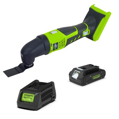 Greenworks 24V Cordless Multi Tool with 1 x 2Ah Battery & Charger