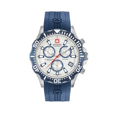Swiss Military By Hanowa Mens Patrol Chronograph Watch with Silicone Strap