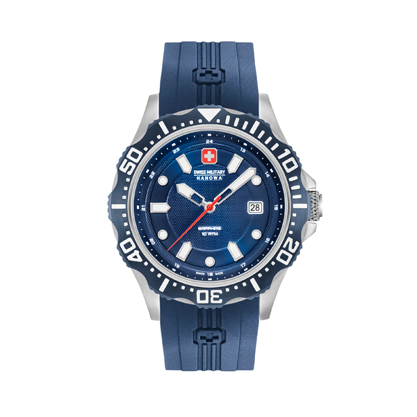 Swiss Military By Hanowa Gent's Patrol Watch with Silicone Strap Blue