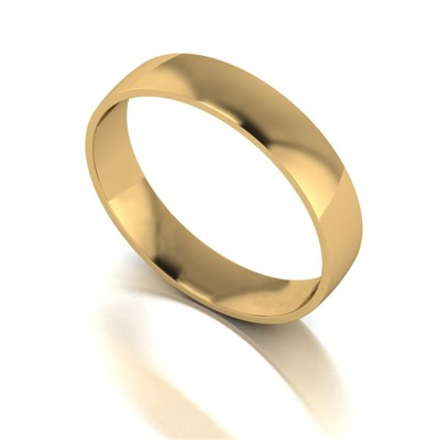 9ct Yellow Gold Court Shaped Wedding Ring 4mm