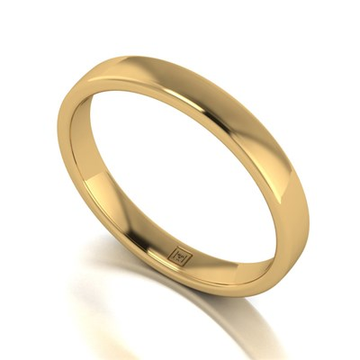Lady Lynsey 9ct Yellow Gold Heavy Weight Court Shaped Wedding Ring 3mm