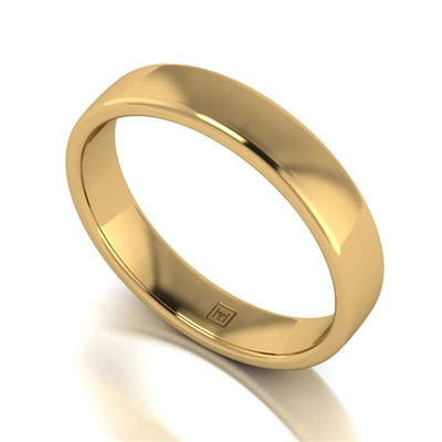 Lady Lynsey 9ct Yellow Gold Heavy Weight Court Shaped Wedding Ring 4mm