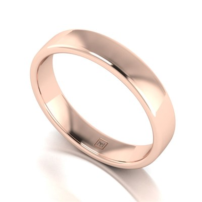 Lady Lynsey 9ct Rose Gold Heavy Weight Court Shaped Wedding Ring 4mm