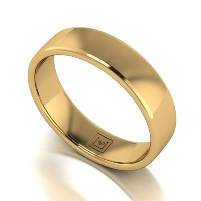 Lady Lynsey 9ct Yellow Gold Heavy Weight Court Shaped Wedding Ring 5mm