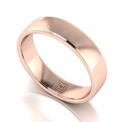 Lady Lynsey 9ct Rose Gold Heavy Weight Court Shaped Wedding Ring 5mm