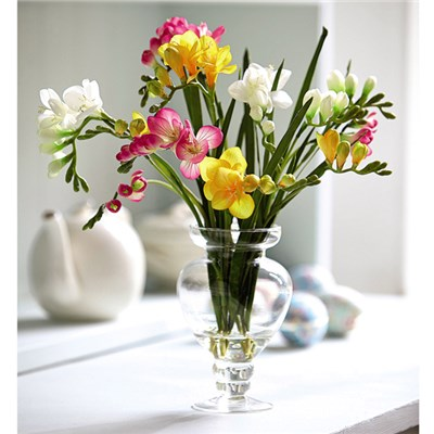 Freesia Arrangement with BONUS Silk Flower Cleaning Spray 1603633