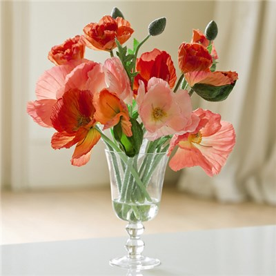 Poppy Arrangement with BONUS Silk Flower Cleaning Spray 1603633