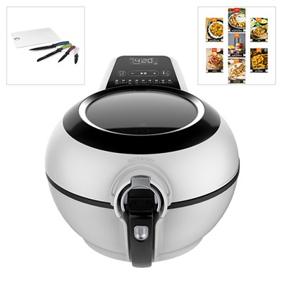Tefal Actifry Genius XL 1.7KG with Dual Motion,Salter Knife and Chopping Board Set plus Spicentice World Seasoning Kit