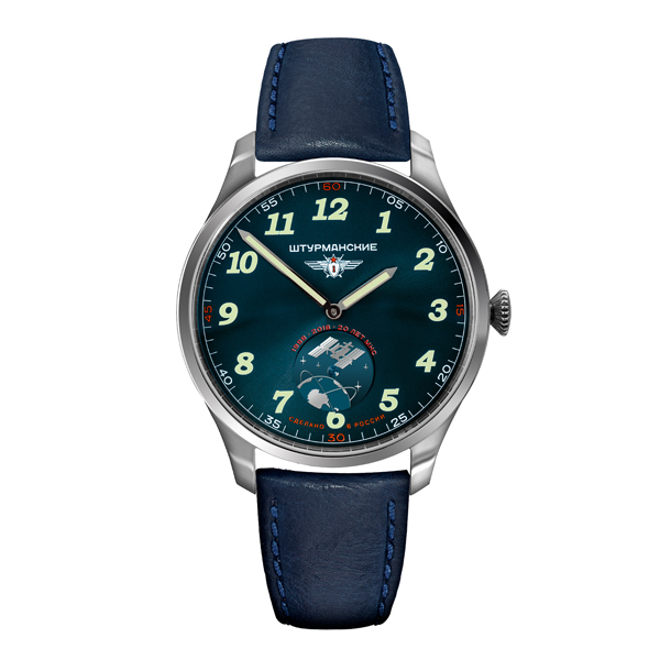 Sturmanskie Gent's Limited Edition International Space Station Watch with Genuine Leather Strap Blue
