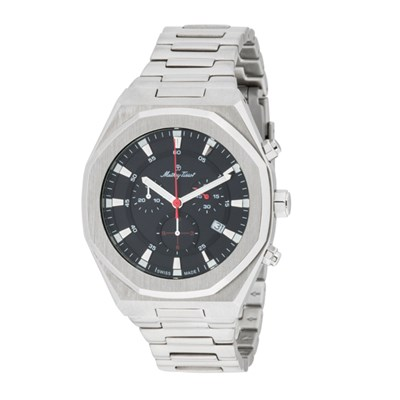 Mathey-Tissot Gent's St Moritz Chronograph Watch With Stainless Steel Bracelet