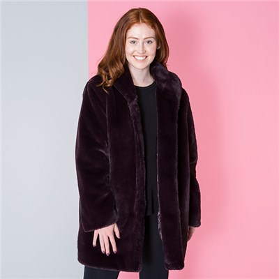 Stolen Heart Luxury Faux Fur Coat
