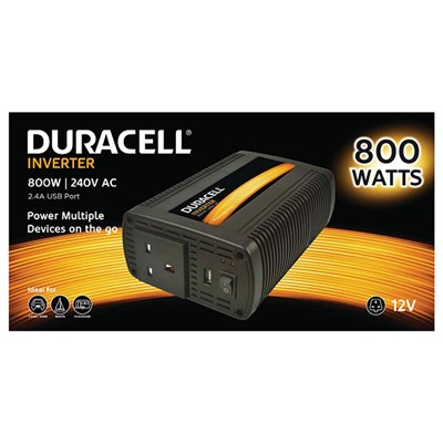 Duracell 800W Single UK Socket Inverter