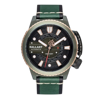 Ballast Gent's Trafalgar Titanium Automatic Watch with Genuine Leather Strap