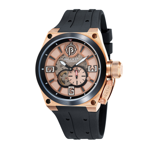 Ballast Gent's Valiant Automatic Watch with Silicone Strap Rose Gold